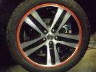 Jeep Wheel after refinishing and effects