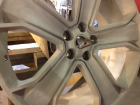 Land Rover Wheel Sand Blasted Before Refinish