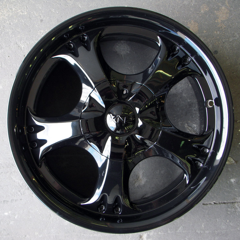 Extreme mirror black powder coat
